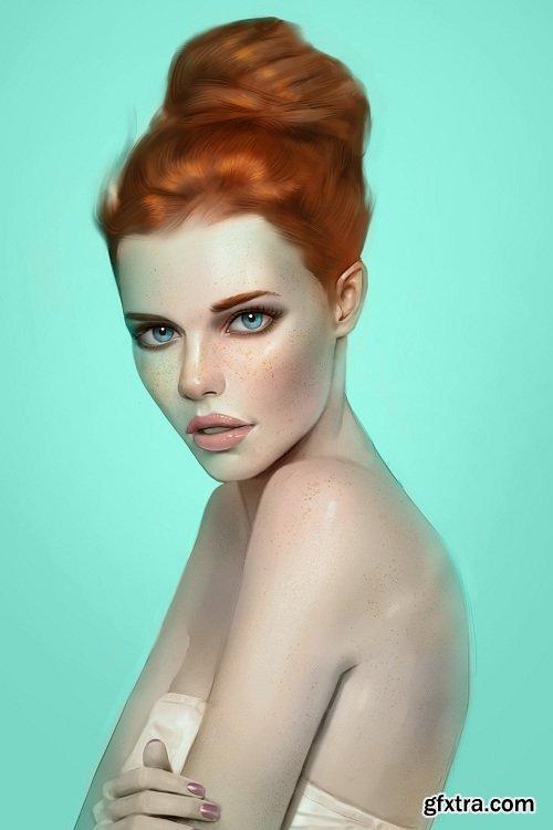 Digital Painting Academy - Incredible details - Painting Beautiful Skin & Eye Details