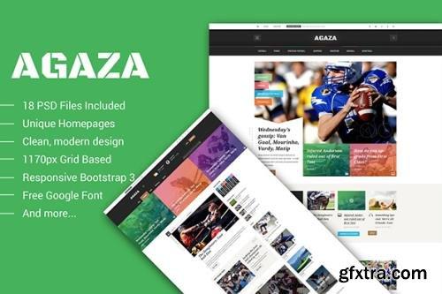 Agaza - News & Magazine PSD Template