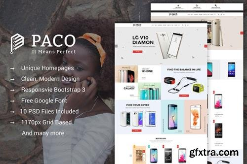 Paco - MultiPurpose eCommerce PSD Template