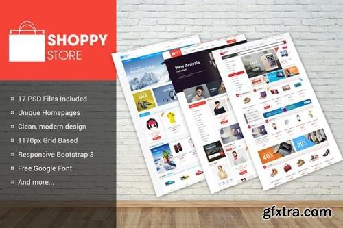 ShoppyStore - Multipurpose eCommerce PSD Theme