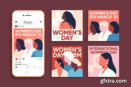 International womens day instagram posts collection