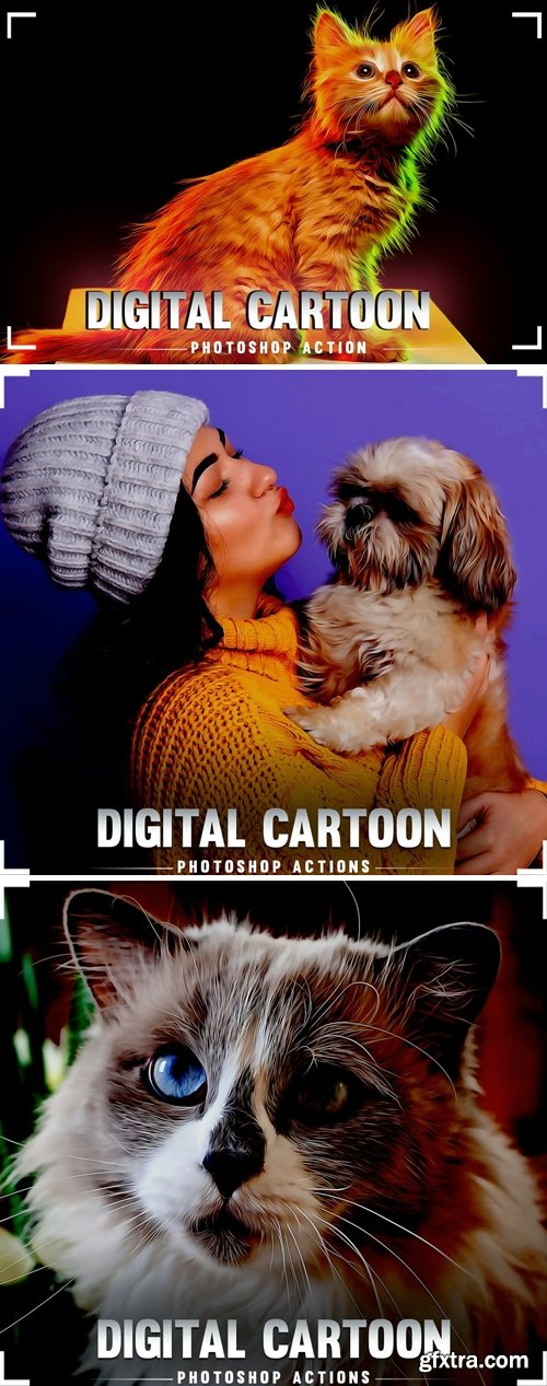 Digital Cartoon Photoshop Action