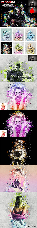 CreativeMarket - Watercolor Photoshop Action 5793829