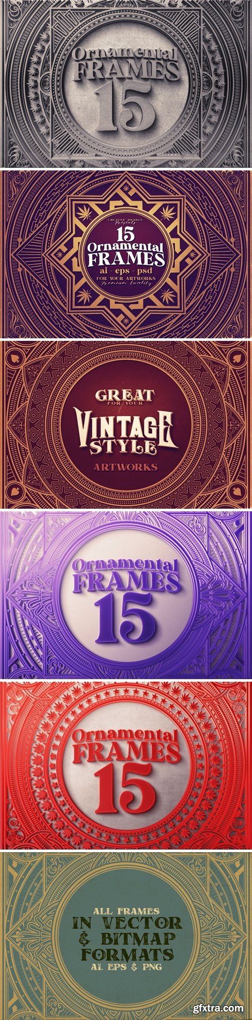 15 Square & Ornamental Frames