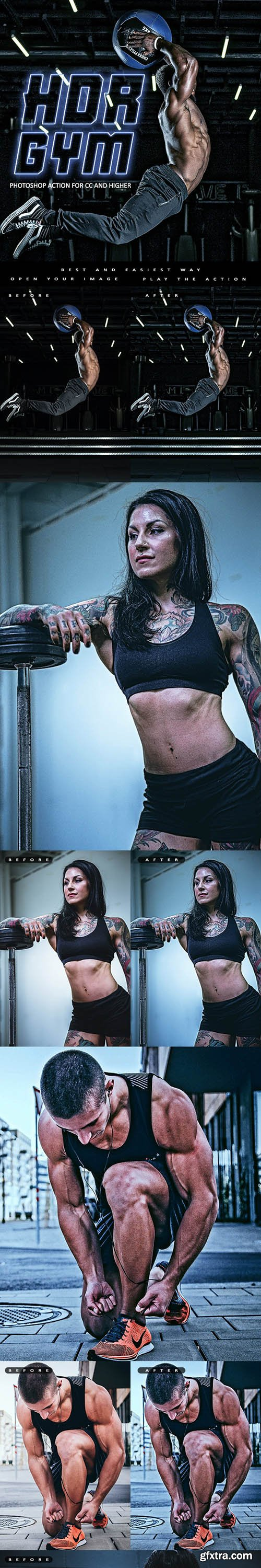 GraphicRiver - HDR GYM - Photoshop Action 29927487