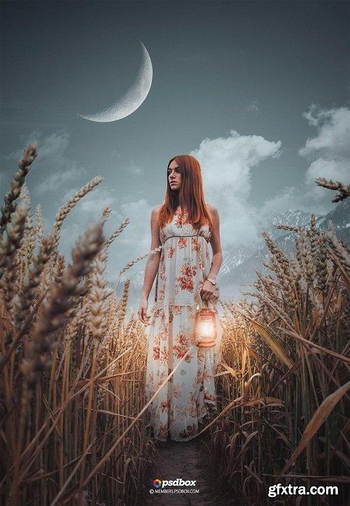 Hija de la Luna - Advanced Composite in Photoshop