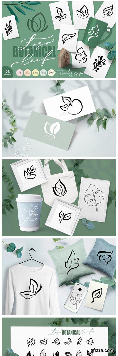 Logo Botanical Leaf SVG 8760598