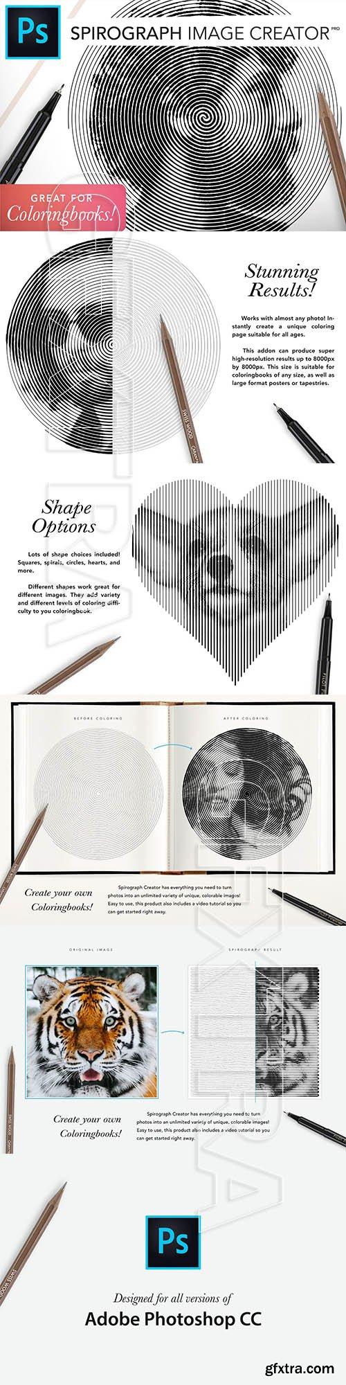 CreativeMarket - Spirograph Creator for Coloringbooks 5042245