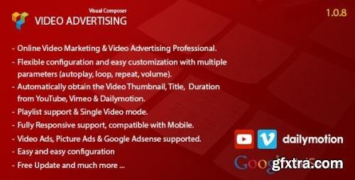 CodeCanyon - Video Advertising Addon For Visual Composer v1.0.8 - 11031886