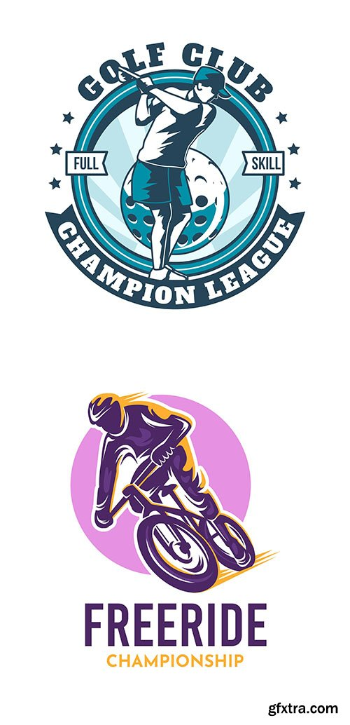 Bike and golf logo template