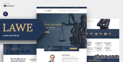 ThemeForest - LAWE v1.0 - Lawyer and Attorney Figma Template - 30601629