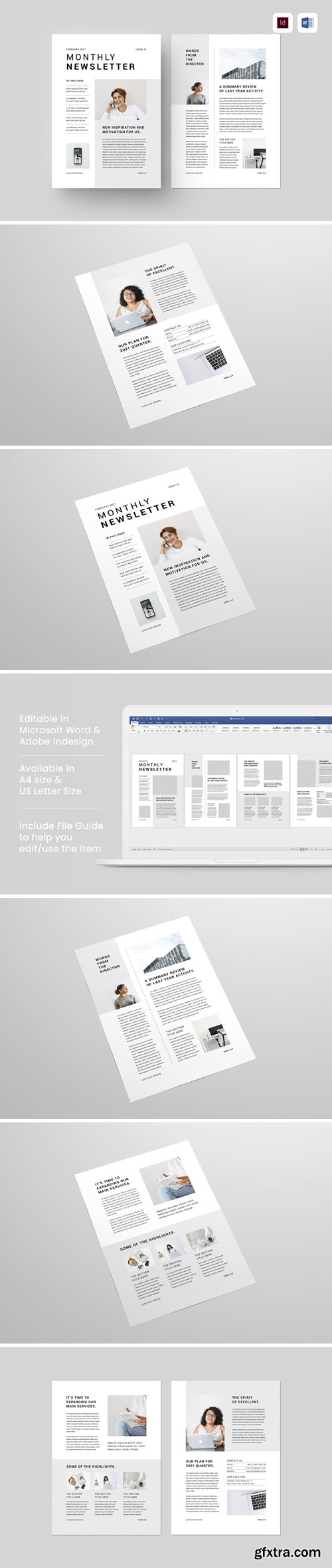 Newsletter | MS Word & Indesign