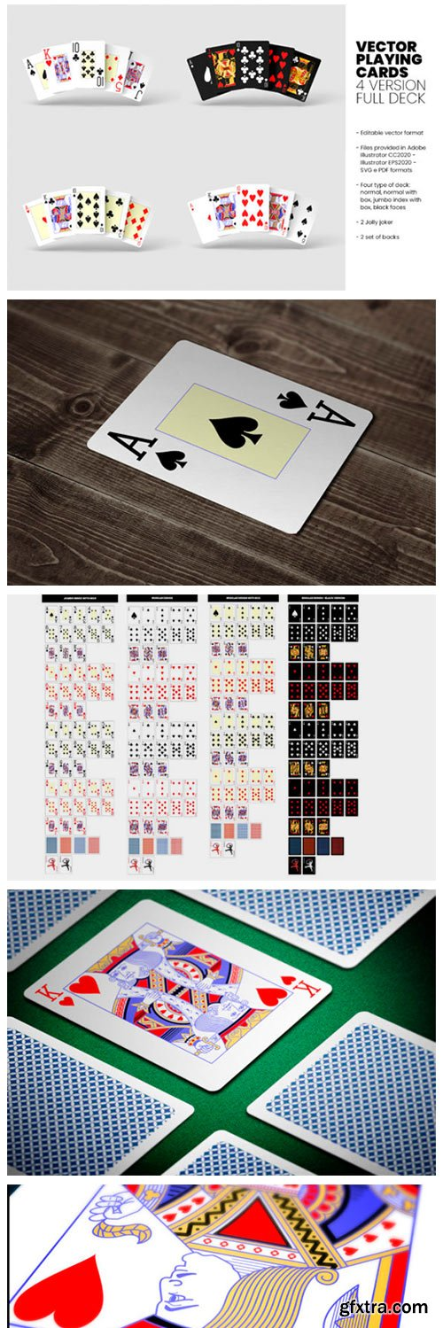 Vector Playing Cards - 4 Version - Full 8854371