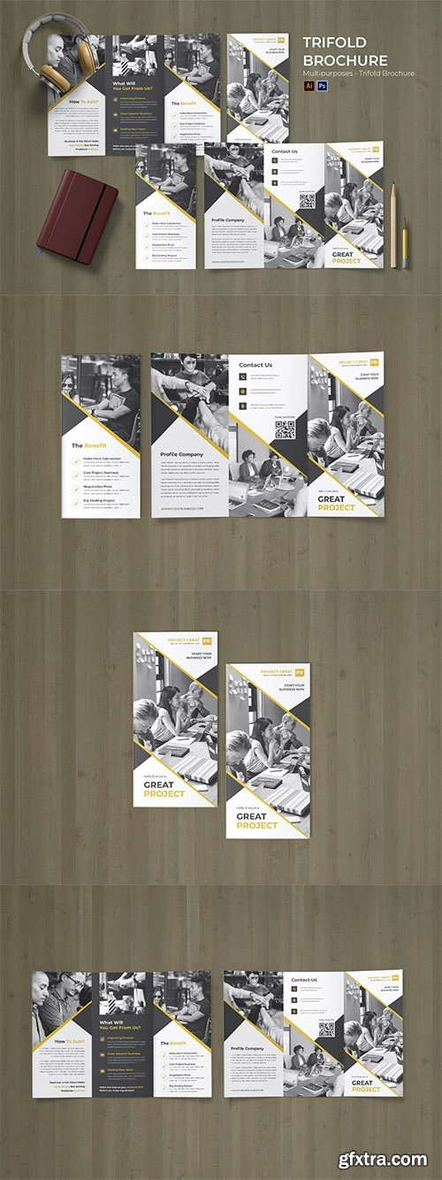 Strategy Business Flyer Trifold Brochure
