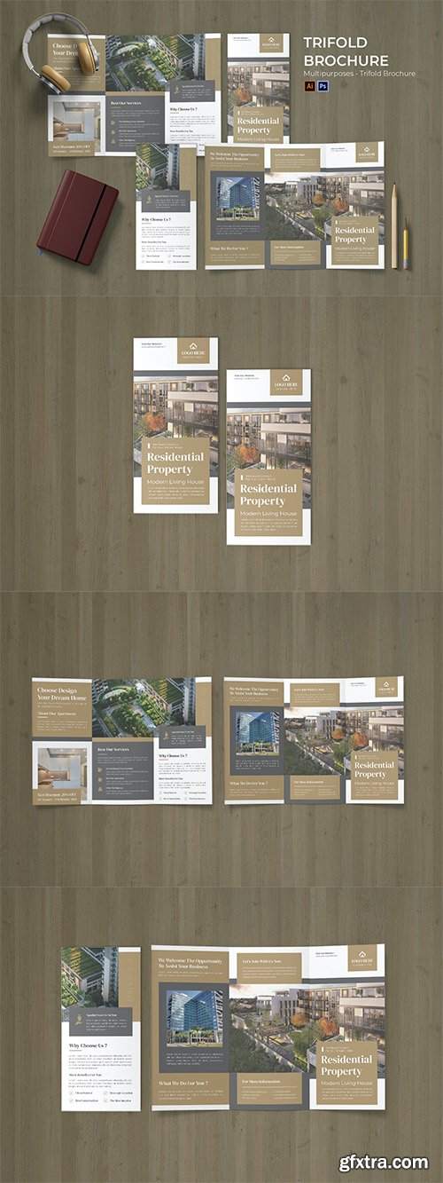 Residential Property Flyer Trifold Brochure