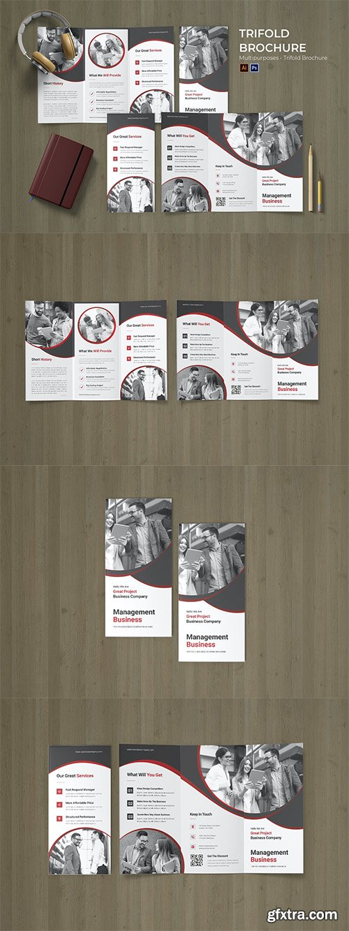 Management Business Flyer Trifold Brochure