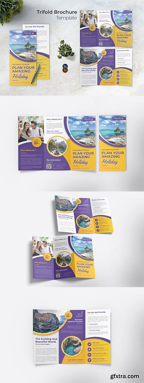 Amazing Holiday Trifold Brochure