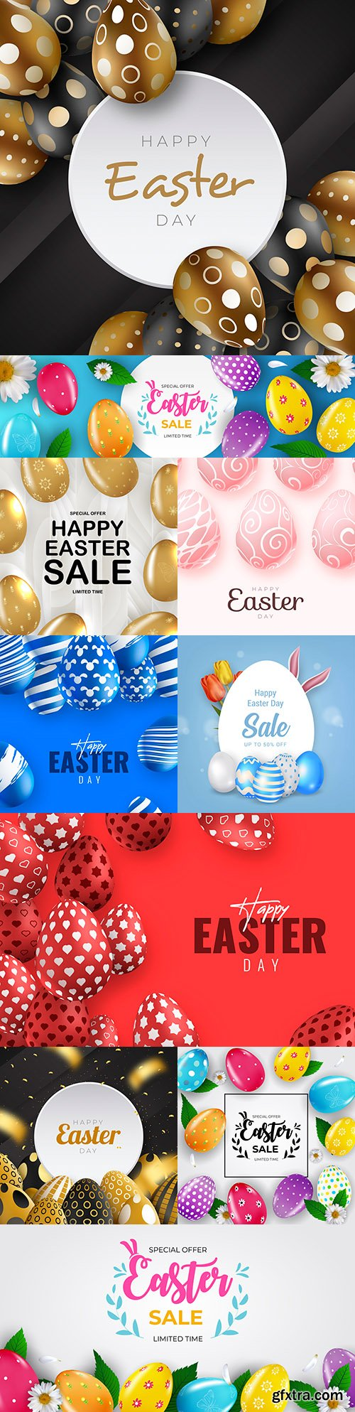 Happy Easter illustrations and elements for design 5