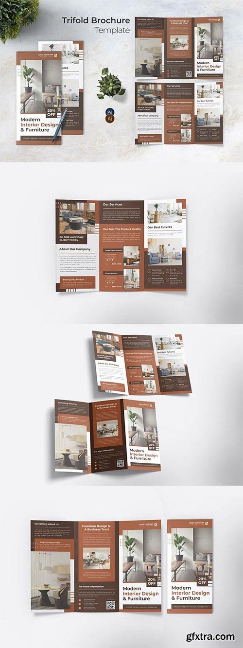 Design Interior Trifold Brochure
