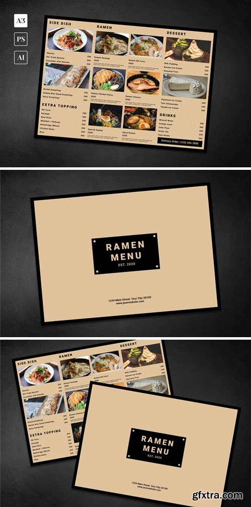Simple Ramen Food Menu