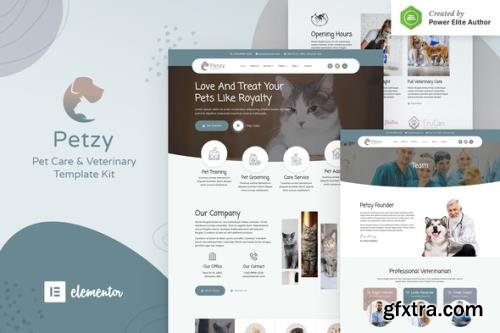 ThemeForest - Petzy v1.0.0 - Pet Care & Veterinary Elementor Template Kit - 30743889