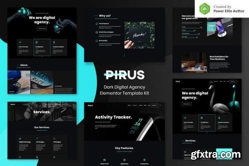 ThemeForest - PIRUS v1.0.0 - Dark Digital Agency Elementor Template Kit - 30745187