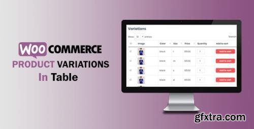CodeCanyon - WooCommerce Variations In Table v1.0.8 - 25358329