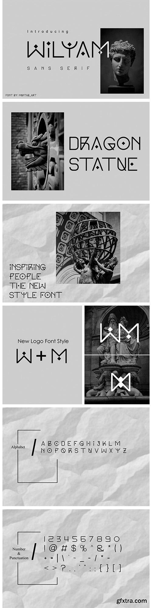 CM - Wilyam | Modern Sans Serif Font 5833707