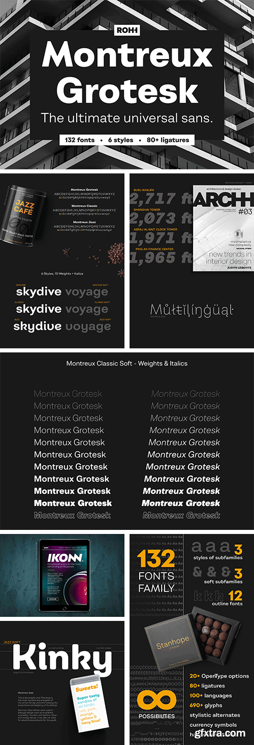 Montreux Grotesk Superfamily