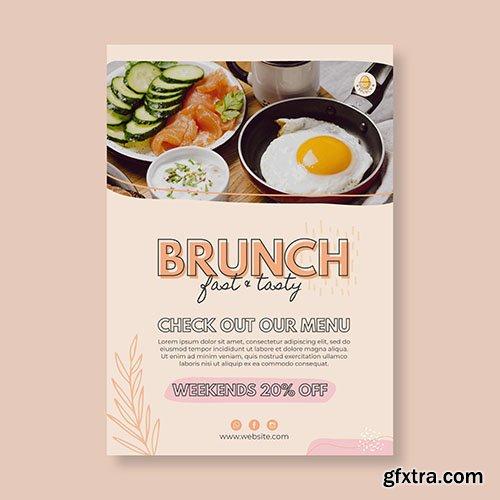 Brunch restaurant poster template
