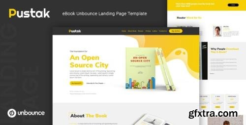 ThemeForest - Pustak v1.0 - eBook Unbounce Landing Page Template - 24469214