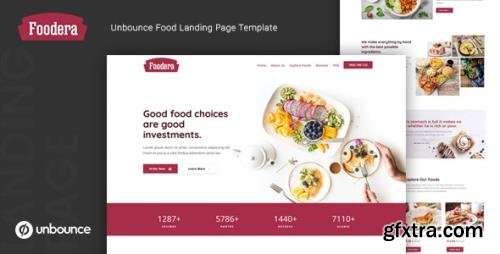 ThemeForest - Foodera v1.0 - Unbounce Food Landing Page Template - 24726147