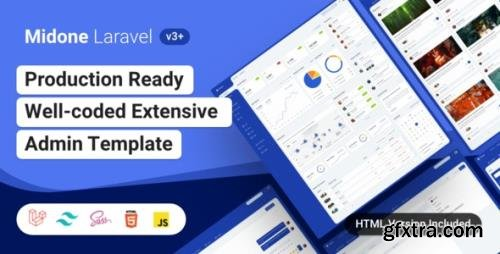 ThemeForest - Midone v3.0.2 - Laravel 8 Admin Dashboard Template + HTML Version + XD Design File - 26531442