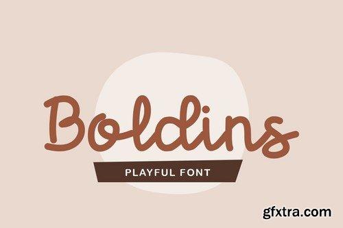 Boldins - Monoscript Font