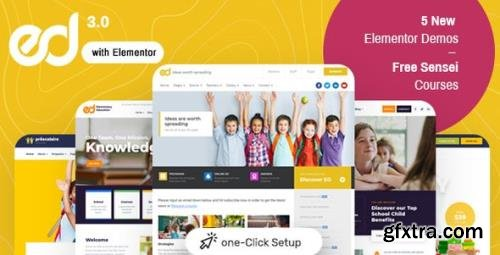 ThemeForest - Ed School v3.5.0 - Education WordPress Theme - 19618075