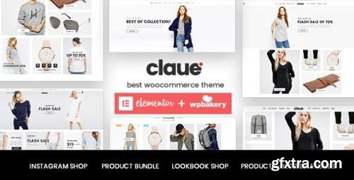 ThemeForest - Claue v2.1.0 - Clean, Minimal Elementor WooCommerce Theme - 18929281
