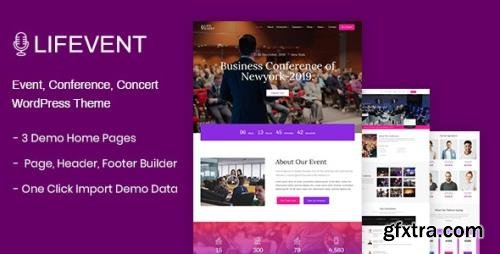 ThemeForest - Lifevent v1.0.5 - Event WordPress Theme - 24924027