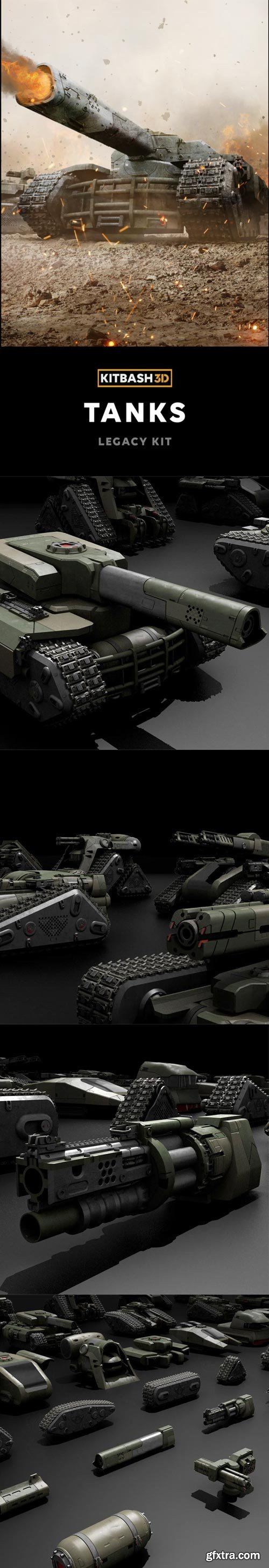 Kitbash3D - Veh: Tanks