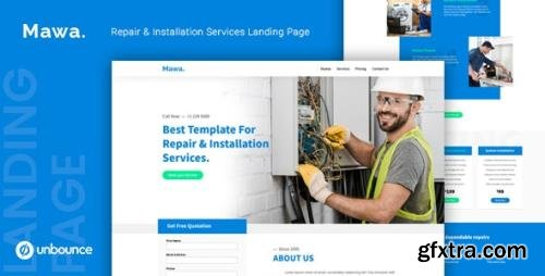 ThemeForest - Mawa v1.0 - Repair and Installation Services Unbounce Template - 25237766