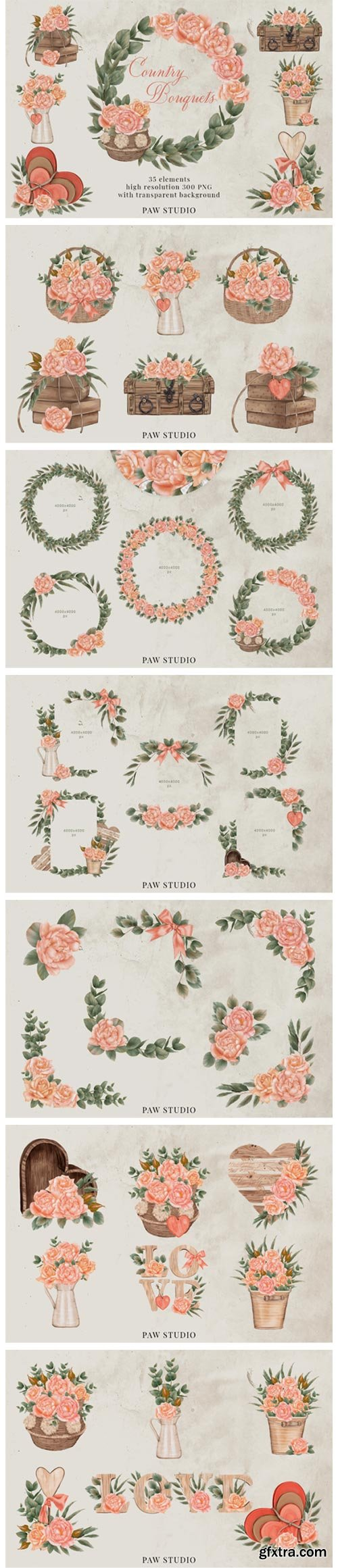 Roses Frames Bouquets Borders Wreaths 8566894