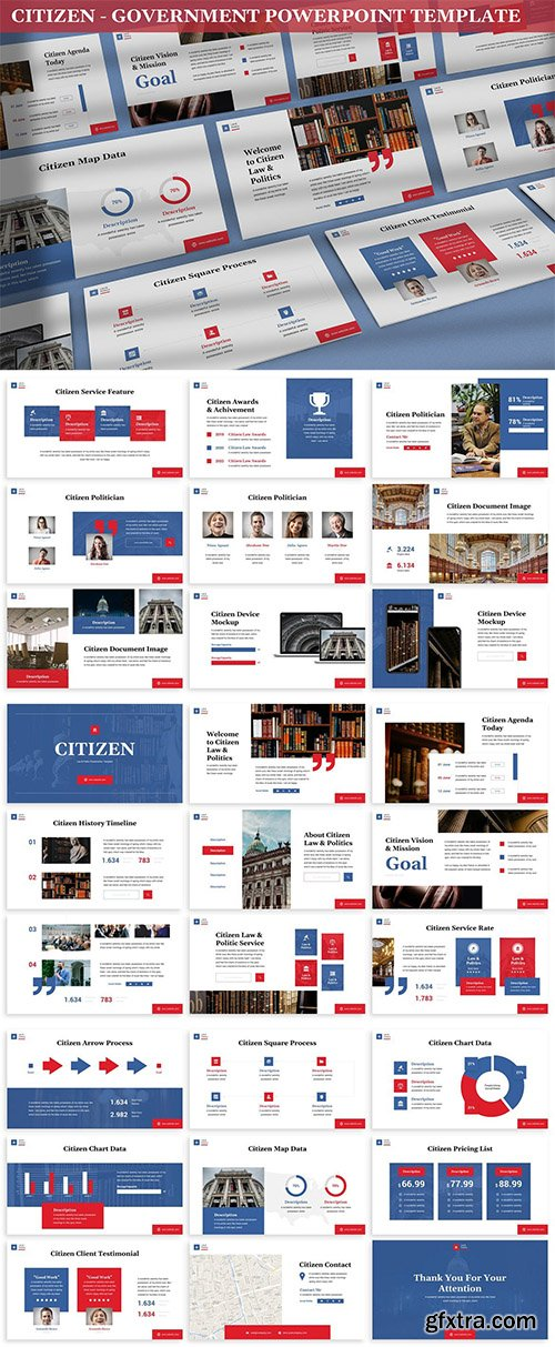 Citizen - Government Powerpoint Template