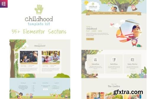 ThemeForest - Childhood Kids v1.0.1 - Child Care Center Elementor Template Kit - 25908361