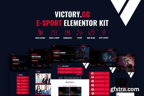 ThemeForest - Victory v1.1.0 - Esports & Gaming Elementor Template Kit - 29732065