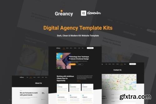 ThemeForest - Greancy v1.0.0 - Digital Business Agency Elementor Template Kit - 29429000