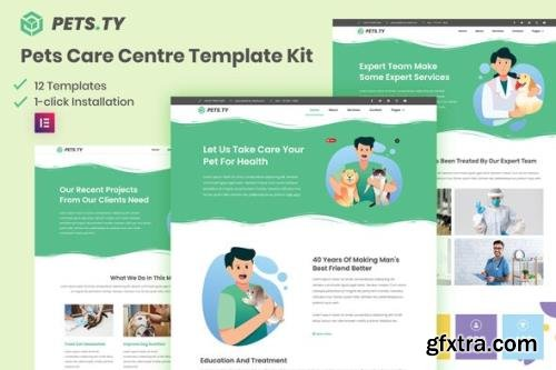 ThemeForest - Pets.Ty v3.0.11 - Pets Care Clinic Elementor Template Kit - 29573973