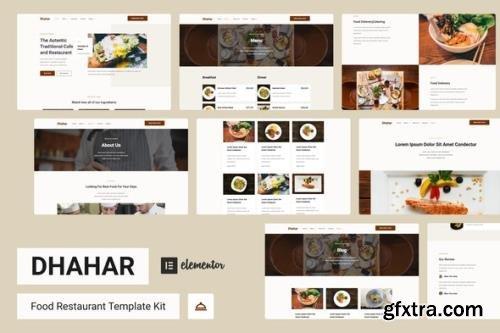 ThemeForest - Dhahar v1.0.0 - Restaurant Elementor Template Kit - 29547957