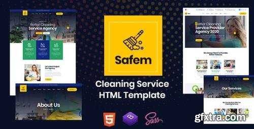 ThemeForest - Safem v1.0 - HTML Template for Cleaning Service - 26445410