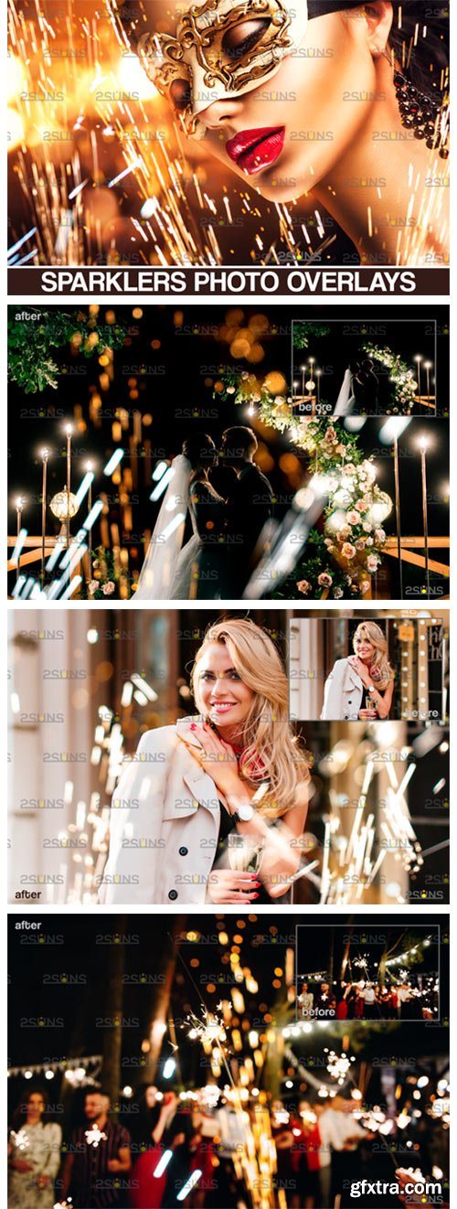 Wedding Sparkler Overlay & Photoshop 8554950
