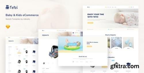 ThemeForest - Tetzi v1.0.0 - Baby & Kids eCommerce Sketch Template - 25745199
