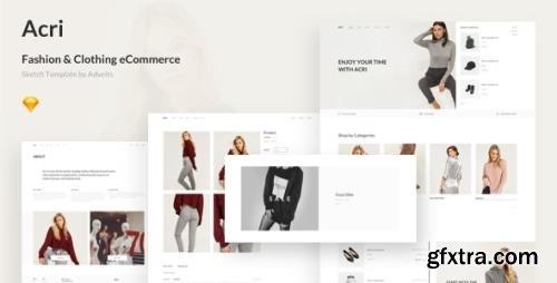 ThemeForest - Acri v1.0.0 - Fashion & Clothing eCommerce Sketch Template - 25543497